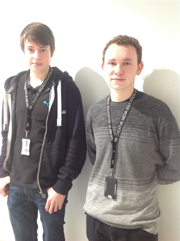 Creative Media students Tom Willis and Shawn Baker