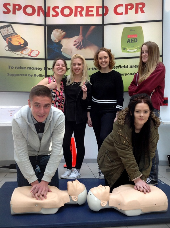 CPR activity to raise money for defib