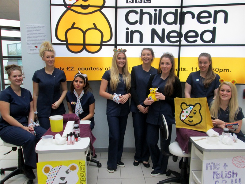 College raises money for Children in Need