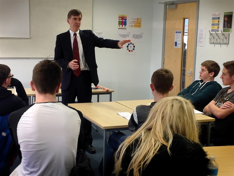 Students gain an insight into the world of politics