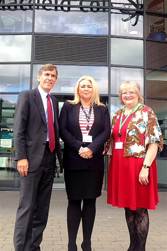Macclesfield College's new Principal welcomes local MP