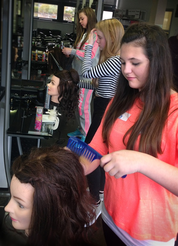 Workshop for budding hair and beauty stylists