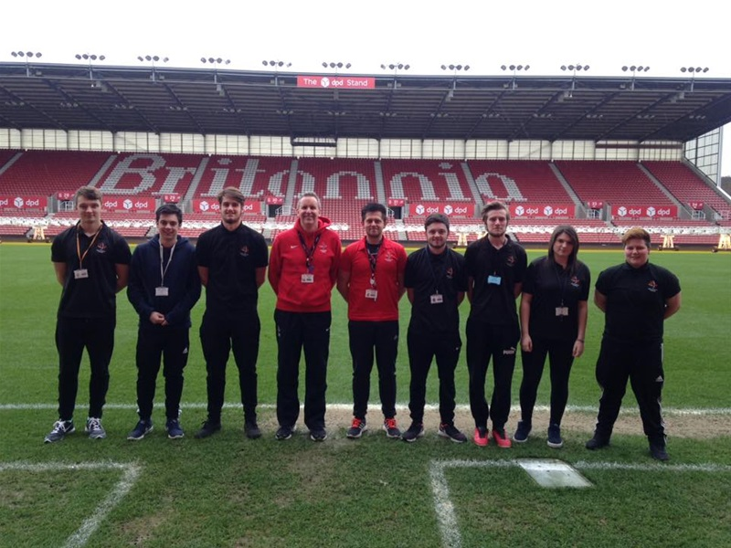 Level 3 BTEC in Sport and Level 3 BTEC in Sports Sciences students visit Stoke City's Britannia Stadium